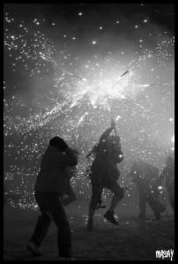 Fa més de tres anys que a Sineu no hi ha cap correfoc dels dimonis de Sa Cova des Fossar durant la festa de sant Antoni. (foto: Macià Puiggròs).