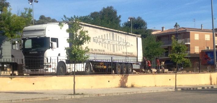 La pista d'Orus Méndez s'ha començat a instal·lar aquest matí.