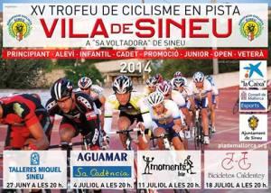 Cartell del XV Trofeu Vila de Sineu de ciclisme en pista.