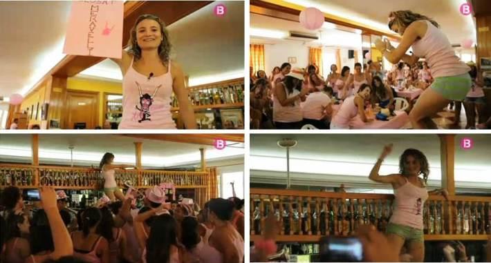 Diversos fotogrames del capítol de la sèrie 'Festa Major' d'IB3  dedicat al Muc de Sineu.