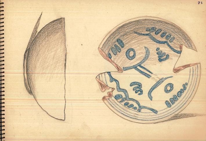 Reproducció d'escudella a l'àlbum de Bartomeu Mulet