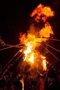 El foc és el protagonista principal de Sant Antoni [foto: Macià Puiggròs].