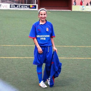 Clàudia Jofre es jugarà amb la selecció sub-12 de futbol femení.