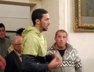 Valtonyc, en una intervenció en el torn de paraula del públic, durant un polèmic ple de fa dos anys.
