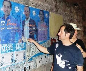 Fa quatre anys, Pere Joan Jaume penjava cartells del PP. Enguany no ho farà.