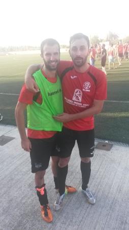Pep Rosselló i Lluís Simó, màxim golejador de la temporada i d'ahir, respectivament.