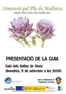 El Grup d'Ornitologia Balear (GOB) presenta una nova guia d'itineraris pel Pla de Mallorca.