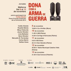 Cartell DONA com a ARMA de GUERRA 2
