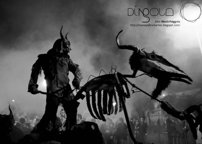 Espectacular instantània de Macià Puiggròs, presa fa uns anys en un correfoc dels dimonis de Sineu.