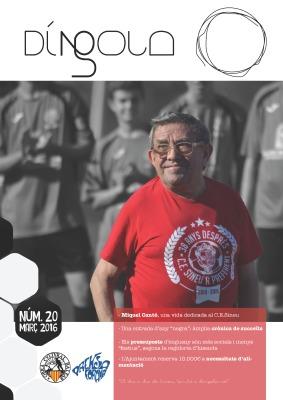 'Díngola' ha dedicat la darrera portada de la seva revista en paper a Miquelet Cantó.