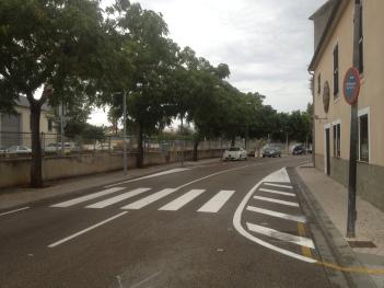 Reordenació dels aparcaments en el carrer Estació.