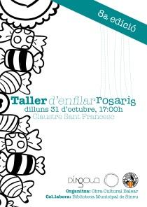 Cartell de la 8a edició del Taller de rosaris