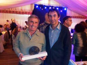 Tomeu Torres (esquerra) i Biel Torrens (dreta), en el sopar del PSM.