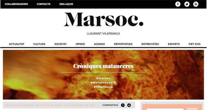 La revista Marsoc és un nou noticiari de Vilafranca de Bonany.