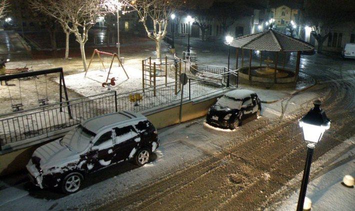 Fa cinc anys si que es varen posar uns quants centímetres de neu a Sineu.