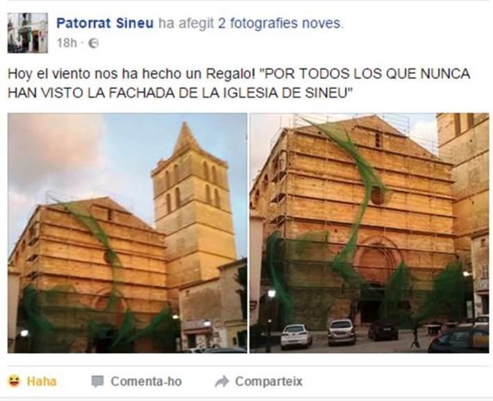 El poble de Sineu ja va començar a impacientar-se amb el tema de l'església.