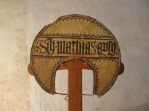 Diadema de l'apòstol sant Maties conservada a l'església de Sineu.