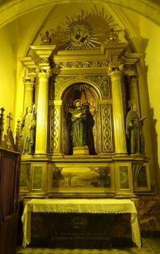 Vista general del retaule de sant Francesc
