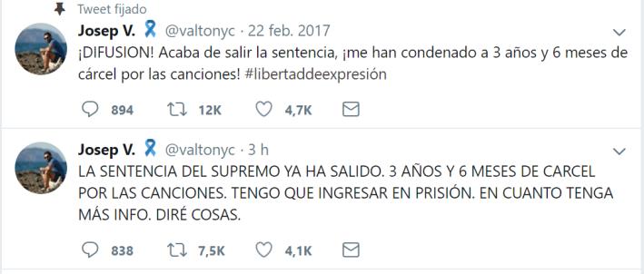 Condemna Valtonyc