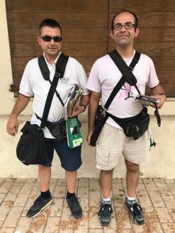 Els dos germans 'Xifo' o Xifoner: Pep (a l'esquerra) i Jaume (a la dreta).