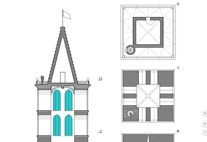 Plànol del campanar (Joan Vanrell i Torelló)