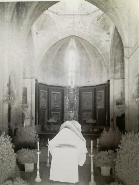 L'antic Llit de la Mare de Deu Morta de Sineu (foto de Josep Pons Frau)