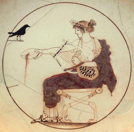 Apol·lo, amb la lira de la inspiració poètica. Font: Wikimedia Commons