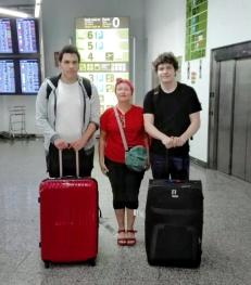 Arribada de dos alumnes alemanys a Mallorca.